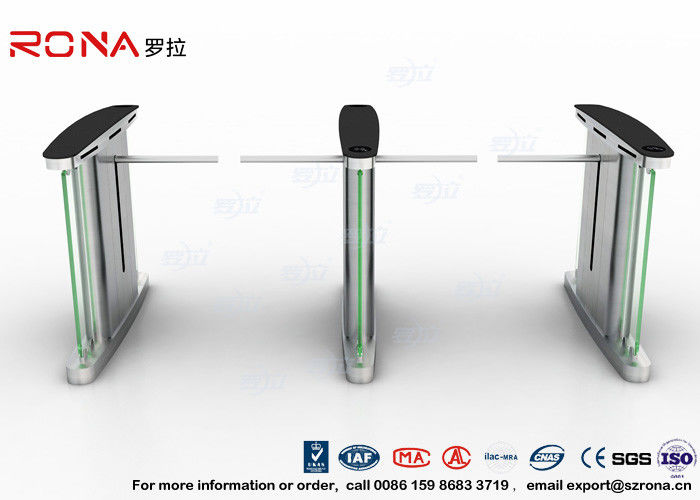 Access Control Electronic Barrier Gates , Turnstile Flap Barrier With CE Approved