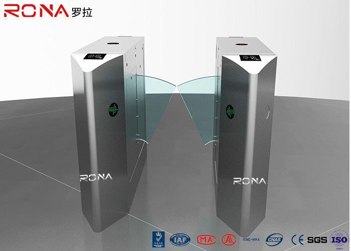 Pedestrian Control Flap Barrier Turnstile , Gate Access Control Systems Electronic