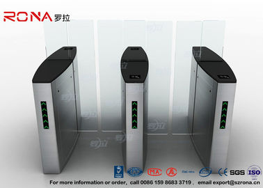 Building Access Control Turnstile Flap Barrier Otomatis Dengan Permukaan Polishing